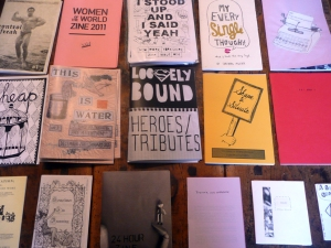 zines all in a row, by Robertsworld
